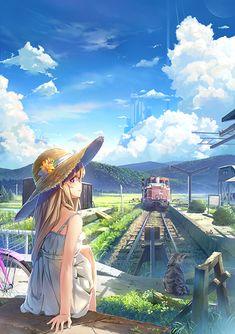 images like beautiful anime girl art Kawaii Anime Girl, Anime Art Girl, Manga Girl, Anime Girls, Fanarts Anime, Anime Characters, Manga Anime, Anime Summer, Wallpaper Animes