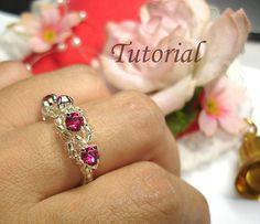 Beading Tutorial - Beaded Ripples Of Gems Ring