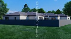 4 Bedroom House Plan – My Building Plans South Africa Split Level House Plans, Square House Plans, Metal House Plans, Free House Plans, 2 Bed House, 4 Bedroom House Plans, Family House Plans, My Building, Building Plans