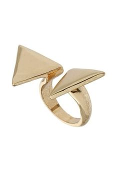 Open Triangle Ring - StyleSays