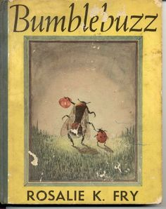 vintage Children's Books Bumblebuzz by Rosalie K. Fry - super cute cover art of bee and ladybug