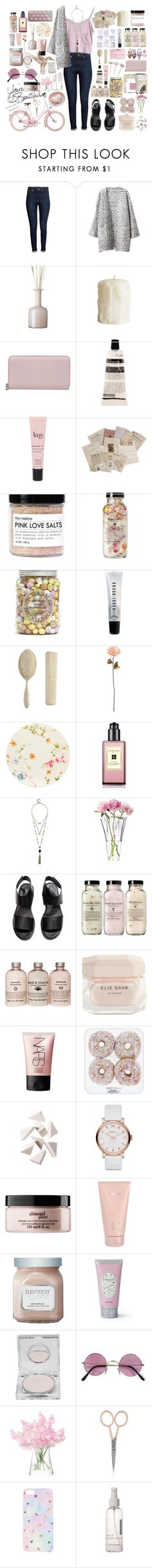 """""""~"""" by elle01-1 ❤ liked on Polyvore featuring beauty, H&M, Stine Goya, Chicnova Fashion, OKA, Alexander McQueen, Aesop, philosophy, LIST and Bobbi Brown Cosmetics"""