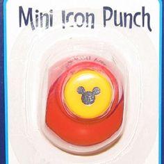 Disney Scrapbooking Paper Punch - Mini Mickey Icon