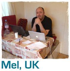 Mel's desk at home i