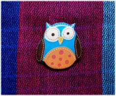 Free shipping Bright owl brooch pin bird brooch owl jewelry owl owl jewelry clay owl clay pin present gift  (16.00 USD) by Lanaworkshop