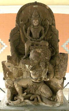 Deified Statue Of King Airlangga Depicted As Vishnu Mounting Lord Garuda Found In 11th Century Ce Belahan Temple, East Java, Indonesia