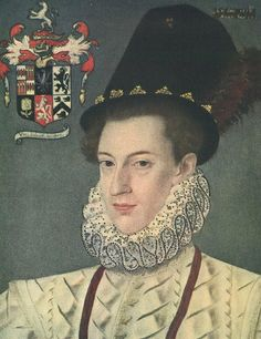 Portrait of a Young Man, 1578. Notice that the Ruff has Elizabethan blackwork ALL over it, not just on the edge.