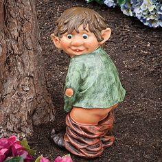 Garden Elf Statue Yard Lawn Outdoor Decor Art Sculpture Patio Figurine Funny