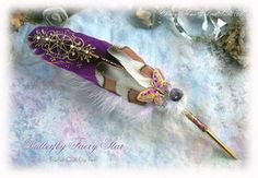 BUTTERFLY FAERY STAR Quill Pen by *ChaeyAhne on deviantART
