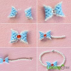 Love beading jewelry? If yes, you won't miss today's Pandahall tutorial on how to make chic 2-hole seed beads bow bracelet with pearl and glass beads!