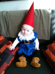 Halloween Garden Gnome Costume....or in our case one of the seven  sc 1 st  Pinterest & Garden Gnome Costume Tutorial Roundup   Pinterest   Baby costumes ...