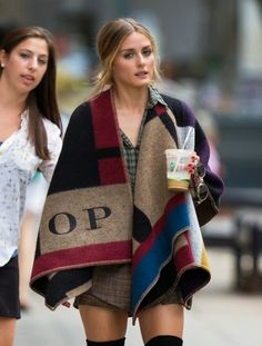 Olivia Palermo on a photoshoot in New York City