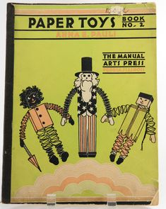Paper Toys Book 2, Anna E. Pauli, Manual Arts Press, Peoria, IL, 1930 How To 18776 by JacksonsMarket on Etsy