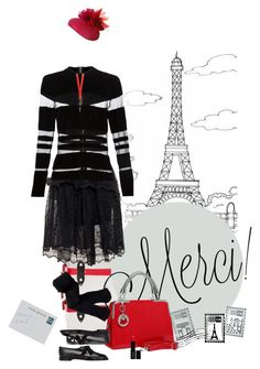 """Day 7: Seven Days in Paris"" by polylana on Polyvore featuring Simone Rocha, Balmain, Aéropostale, Givenchy, NERIDA FRAIMAN, Dot & Bo, Manolo Blahnik, Lord & Berry, paris and travil"