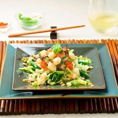 Shrimp Larb, the perfect new year resolution dish, fresh, light and packed with flavor!