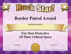 funny employee awards - Google Search Funny Certificates, Award Certificates, Printable Certificates, Certificate Templates, Fun Awards, Teacher Awards, Office Humor, Work Humor, Funny Office