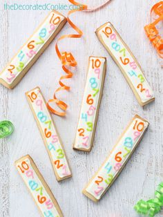New Years Eve cookie sticks, decorated cookies and marshmallows.