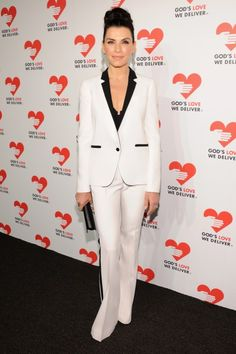 White tuxedo with black accents.  LOVE this look!!