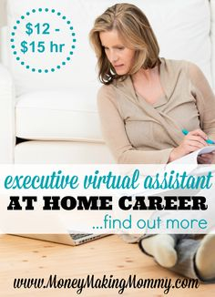 Wanting to work from home - but unsure what you want to do? Being a virtual assistant is a great way to try out different tasks and work for different clients to see if you like it. Or if you're already a virtual assistant in need of finding work - this might be perfect for you too! Get more details at MoneyMakingMommy.com.