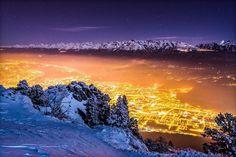 Winter night on Grenoble