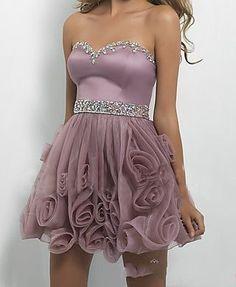 Evening Dress, Corset Crystal Formal Dress,Organza/Satin Prom Dress,Khaki Formal Dress.Short Evening DRess
