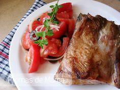 Costillas de cerdo con ensalada murciana ~ Aromas de Mamá   Recetas de Cocina   aromasdemama.com