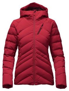 The North Face Women's Heavenly Jacket - at Moosejaw.com in black. Love the seaming. Also has a removed hood and has a powder skirt ( if you want that)  WATER PROOF
