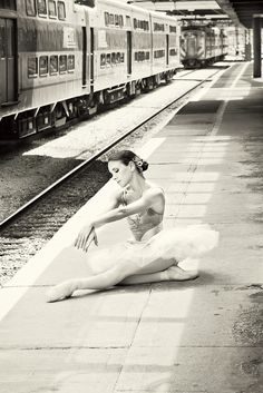 Street dancing. Once saw a YouTube video of a ballet dancer who went throughout the NY trains, onto the street, and more.     Abigail Simon - Joffrey Ballet by Gina Uhlmann, via Flickr