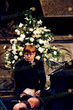 Caption: Priness Diana's Funeral at the Westminster Abbey Elton John Princess Diana Photo By:alpha-Globe Photos, Inc