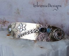 DRAGONFLY DASHER.. Mixed Metal, Iolite and Blue Chalcedony ... Dragonfly Hair Barrette .. Hair Clip