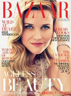 Reese Witherspoon for Harper's Bazaar UK January 2015