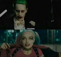 c'mon baby – joker and harley in suicide squad - Pubg Pic Der Joker, Joker And Harley Quinn, Baby Joker, Kings & Queens, Jared Leto Joker, Madly In Love, The Villain, Gotham City, Halloween Face Makeup