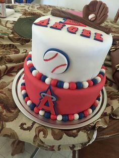 Anaheim Angels Cake Happy Birthday Kevin My Cakes