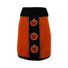 fleece dog pullover reflective orange pumpkin: Dog Beds | Dog Collars | Dog Crates | Dog Costumes | Tags | Houses | Harnesses