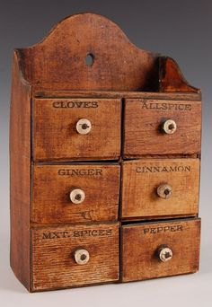 I have one of these! Did not have a clue this was the intended use!!! CIRCA 1890 SIX DRAWER SPICE CHEST