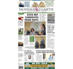 The front page of the Taunton Daily Gazette for Wednesday, Oct. 22, 2014.