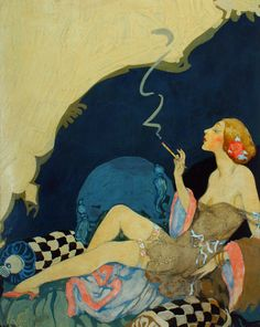 Dating to the mid-1920s, this lavishly colored and provocatively composed…