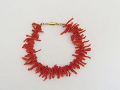 Vintage Jewelry Gold Tone Natural Branch Coral Bracelet 7 1/2'' Length by wandajewelry2013 on Etsy
