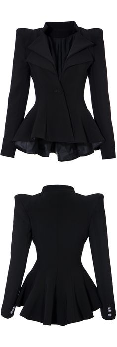Ruffled Blazer - love