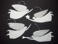Paper Angels--Four Delightful White Paper Angels