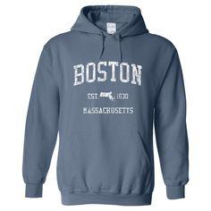 Vintage Boston Massachusetts MA Hoodie - Adult (Unisex)