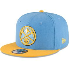 c6e4ed3d1bf Men s New Era Light Blue Gold Denver Nuggets 2-Tone Original Fit 9FIFTY Adjustable  Snapback Hat