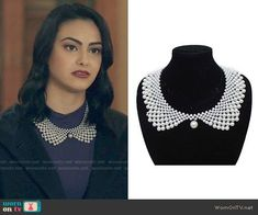 Veronica Lodge Fashion on Riverdale Veronica Lodge Fashion, Veronica Lodge Outfits, Veronica Lodge Style, Opal Necklace, Collar Necklace, Veronica Lodge Riverdale, Riverdale Fashion, Victoria Kay, Jewelry Stores Near Me