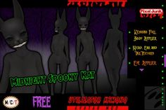 [PJ] FREE Midnight Spooky Kat for the Utilizator Kemono