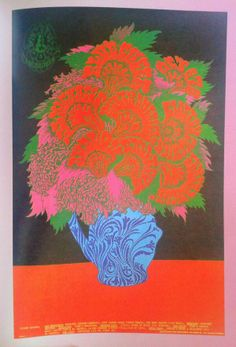 BLUE CHEER .....  at the Avalon Ballroom ..........  poster by ... VICTOR MOSCOSO ....  1967 ..........  via @tomartn