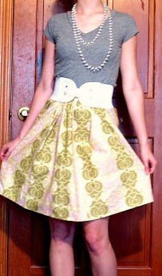 Ruffles and Roses: Summer of Skirts - Elastic A-Line Tutorial