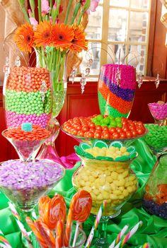 Spring/Summertime Wedding Candy Buffet
