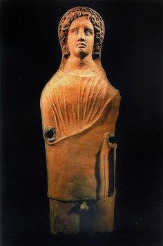 Etruscan Statues | ETRUSCAN TERRACOTTA MALE VOTIVE STATUE
