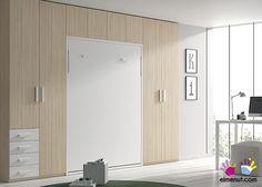 Dormitorio Juvenil con cama abatible Vertical de Matrimonio  Armarios