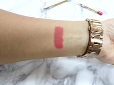 A swatch of the Max Factor lip liner in no. 10 Red Rush from the Colour Elixir range